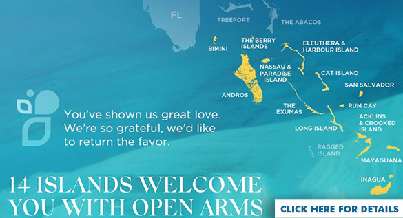 Open islands in the Bahamas after hurricane Dorian
